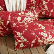 Red Cherry Blossom Pillow Cases
